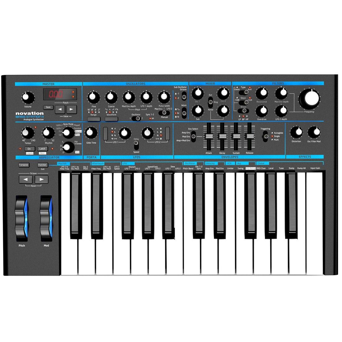 Novation Bass Station II Monophonic Analogue Synthesizer