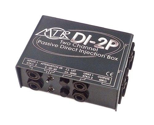 MTR DI-2P Stereo Passive DI Box