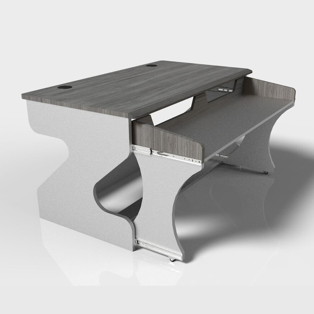 ZAOR MIZA M Studio Desk Grey Wengé