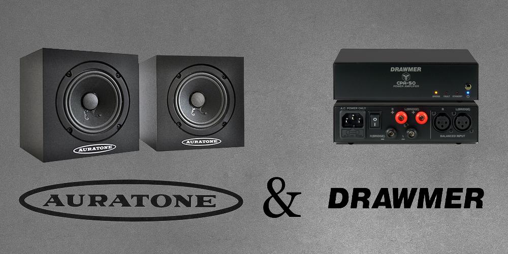 Auratone 5C Mix Cube & Drawmer CP50 Amplifier Bundle