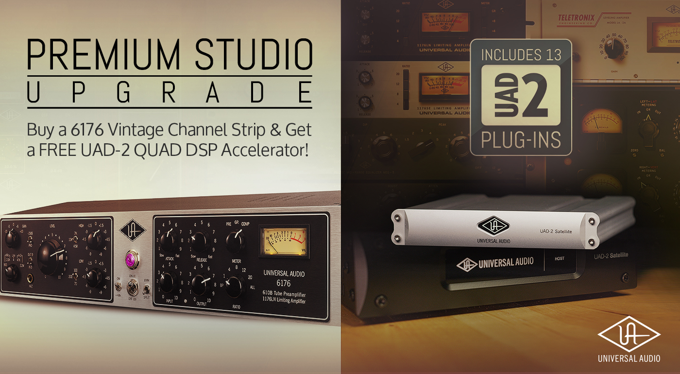 Universal Audio 6176 inc FREE UAD2 special offer available from Kazbar Systems