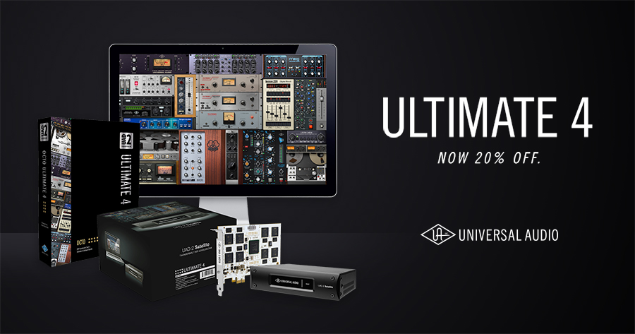 Universal Audio UAD2 Ultimate 4 20% off Discount available from Kazbar Systems