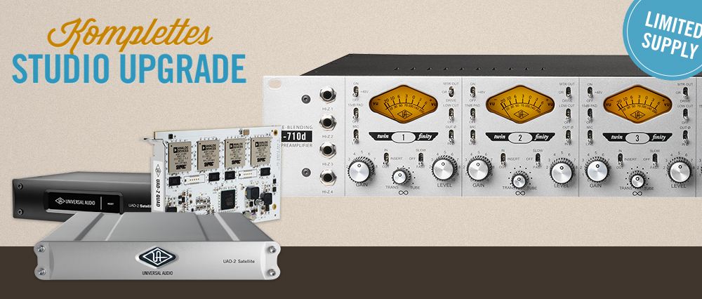 Purchase a Universal Audio 4-710D Preamp & Get A FREE UAD2 PCIE or Satellite