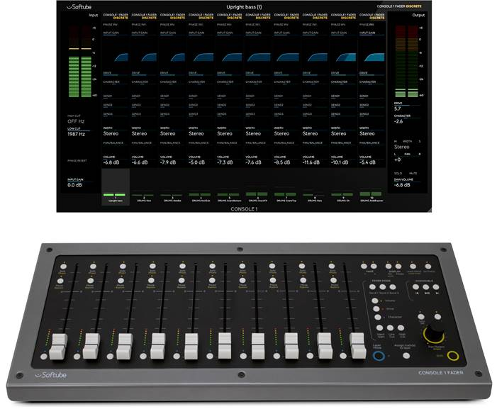 Softube Console 1 Fader – 10-Channel DAW Fader Controller